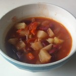 冬野菜とレッドキドニービーンズのスープ