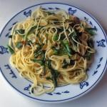 アーリオ・オリオ・ペペロンチーノ 菊菜入り