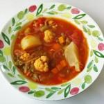 グリーンスプリットピーと冬野菜のスープ