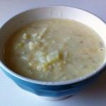 豆乳とカリフラワーのスープ