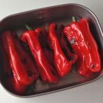 赤ピーマンの蒸し焼き