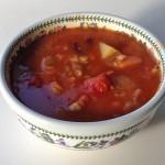 豆と野菜のスープ