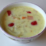 豆乳入り豆と野菜のスープ